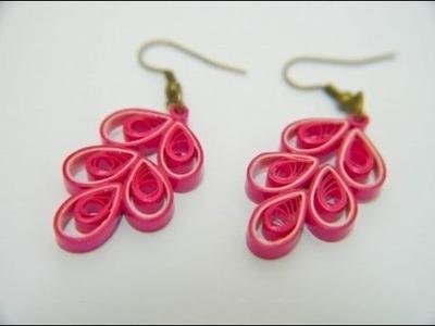 Beautiful Quilling paper Earring designs making methods   Earrings Making video