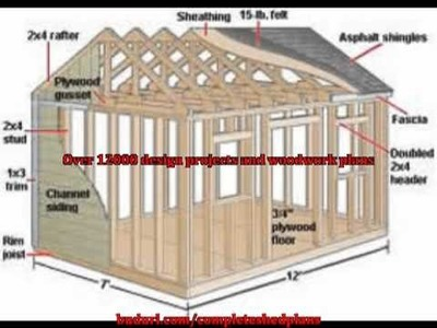Build Amazing DIY Shed With Wood - Free Woodworking Patterns and Designs