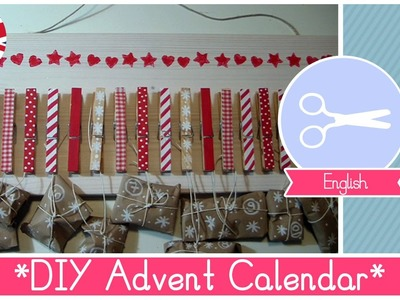 Christmas Crafts: Tutorial How to make a DIY Advent Calendar with clothes pins