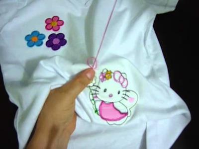 Como decorar una camiseta .Crafts in blouses video No.92