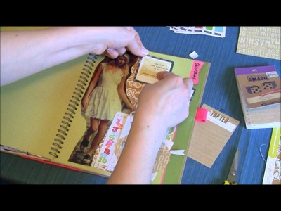 Craft Warehouse Back 2 Basics: Pink Smash Book Page