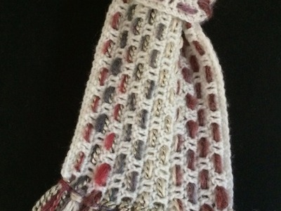 Crochet a 3-in-1 Double Crochet Woven Scarf