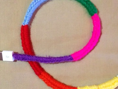 Crochet a rainbow over a usb charger cable - DIY  - Guidecentral
