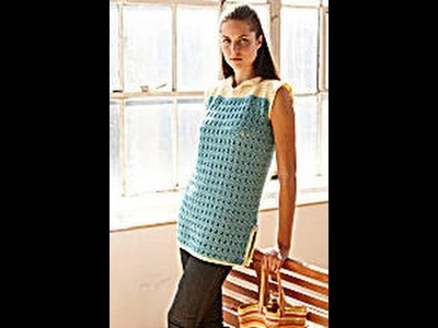 #Crochet Beach Cover Up (video two) Lion Brand pattern