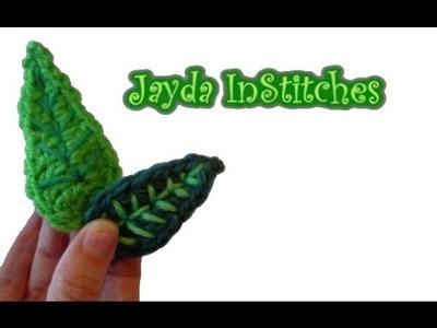Crochet Leaf Pattern Tutorial