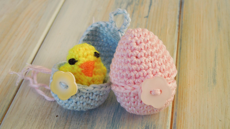 (crochet - part 2 of 2) How To Crochet a Mini Chick & Egg - Yarn Scrap Friday