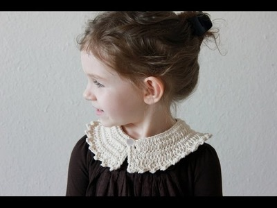 Crochet Peter Pan Collar Tutorial - Left Handed Version