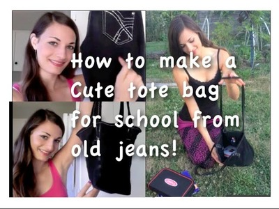 Cute Tote Bag out of Old Jeans! DIY TUTORIAL