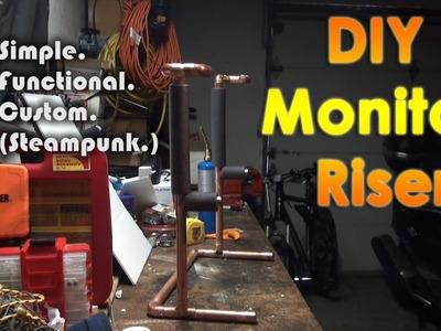 DIY Custom Steampunk Monitor Riser.Stand
