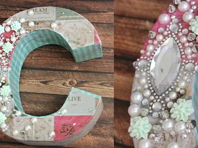DIY: Decoupage Letters for your room! DECODEN!