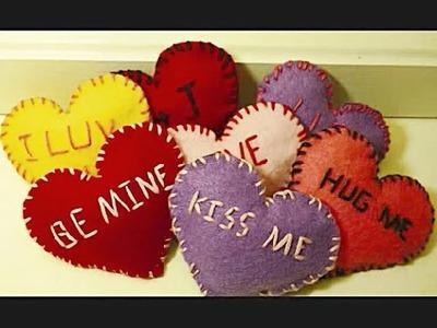 DIY: Felt Valentines Day Hearts
