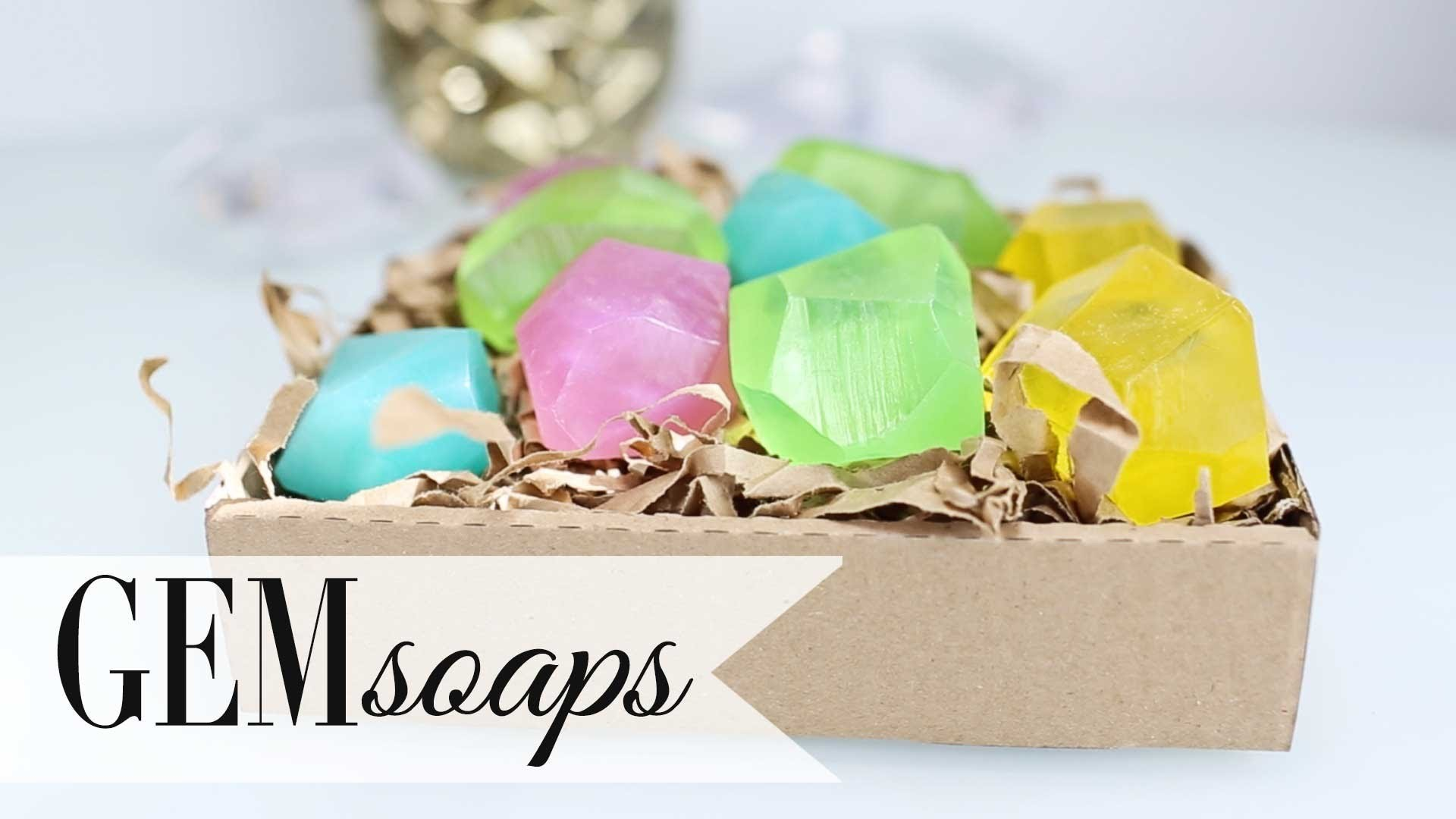 DIY Geodesic Gem Soap - Summer Party Favors by ANNEORSHINE