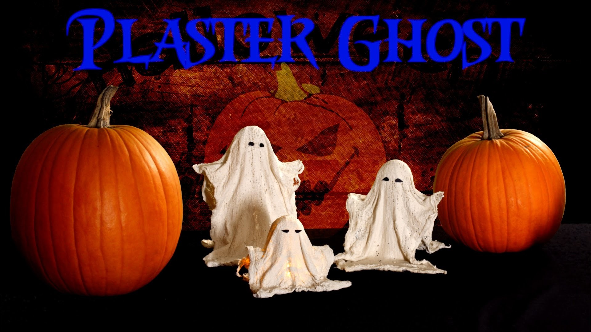 DIY Halloween Plaster Ghost Decorations fast, easy, cheap 2014