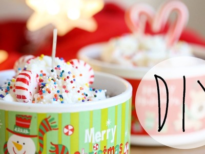 DIY Holiday Hot Cocoa Candles {Xmas Gift Idea} - ANNEORSHINE