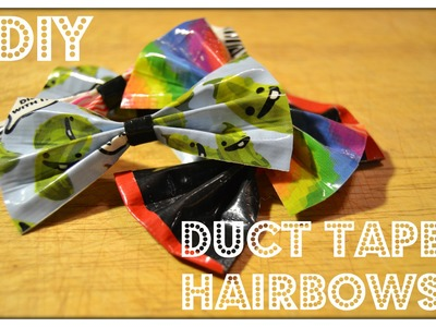 DIY: How to Make Simple Duct Tape Hairbows!