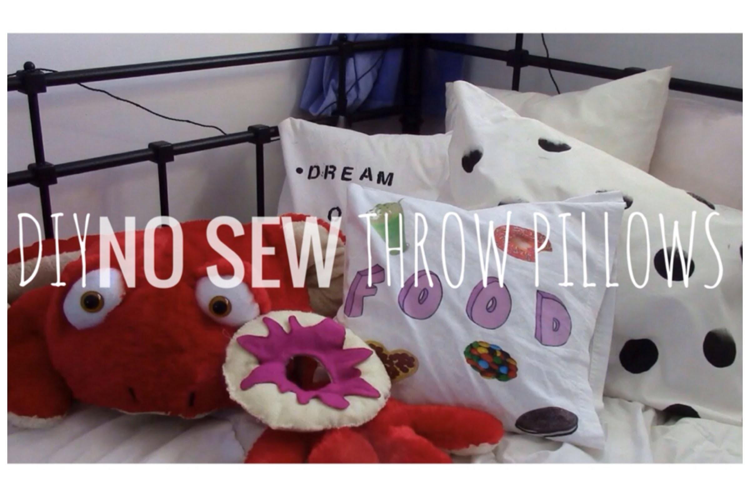 DIY No-Sew Throw Pillows