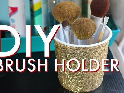 DIY Recycled Brush Holder