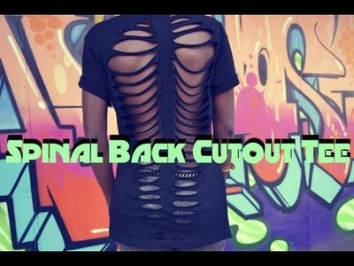 DIY Spinal back cut out t-shirt