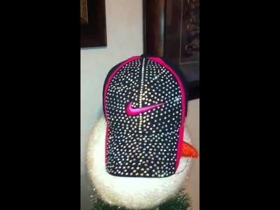 DIY swarovoski crystal baseball cap hat rhinestone sparkle bling