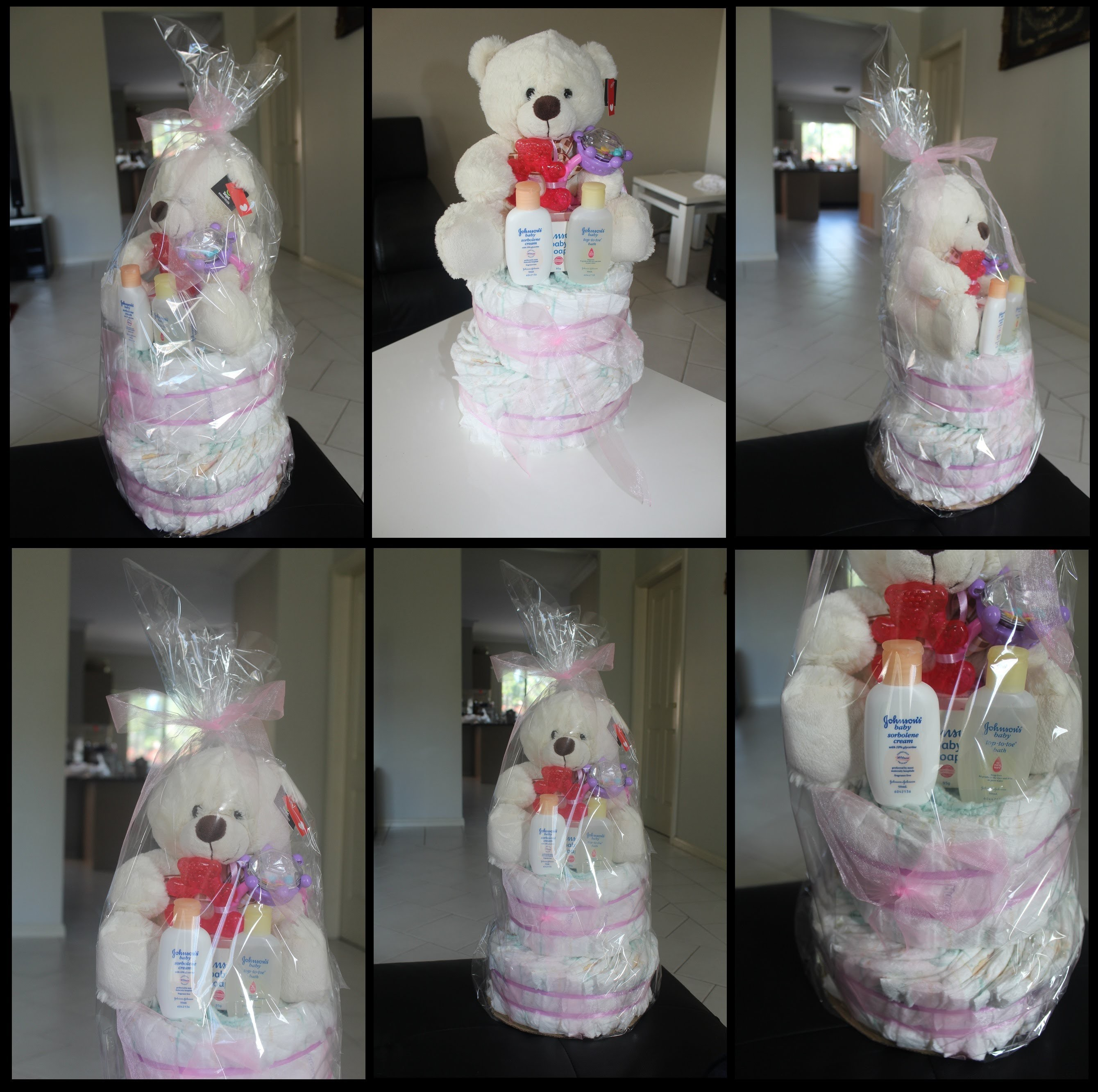 DIY : TWO TIER DIAPER CAKE  (HOW TO MAKE)