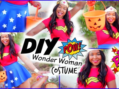 DIY Wonder Woman Halloween Costume!