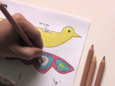 Flapping Bird - Kids Paper Craft