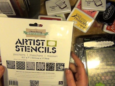 Haul - new scrapbooking stuff and stamps from tim holtz, prima doll and glitz design