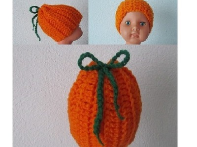 How to Crochet a Baby Pumpkin Hat by ThePatterfamily P#2