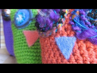 How to Crochet an Owl: Part 2 (single crochet, whipstitch)