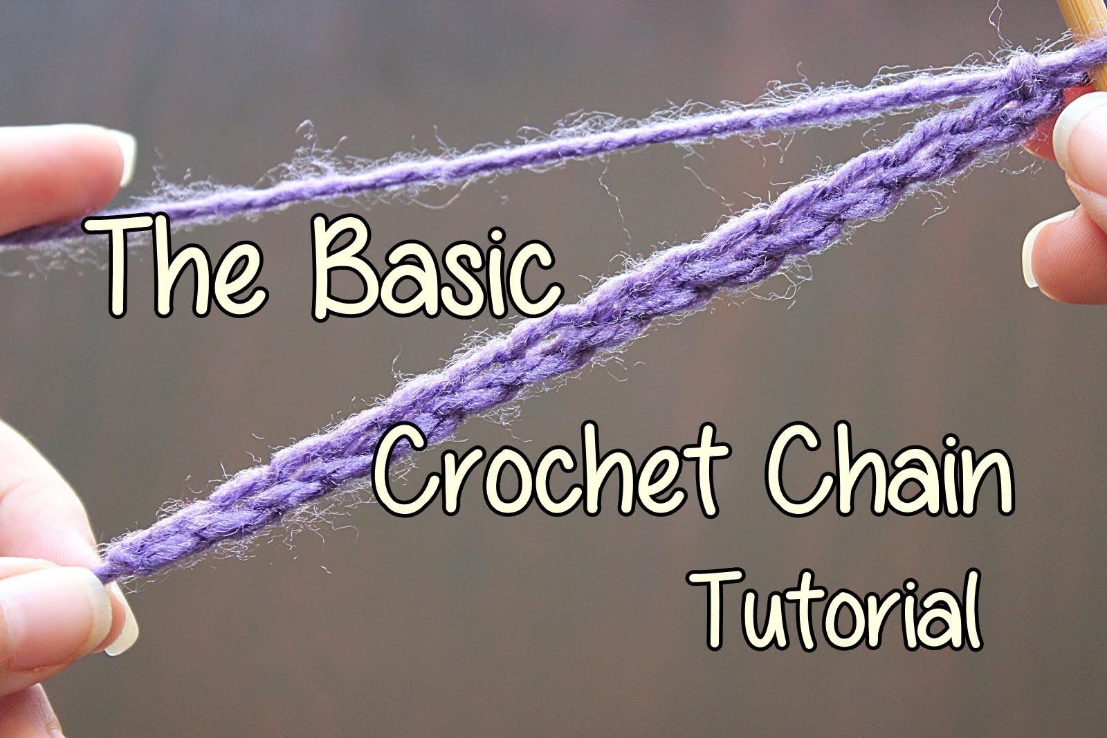 How to crochet the Basic Crochet Chain - Basic Crochet Lessons