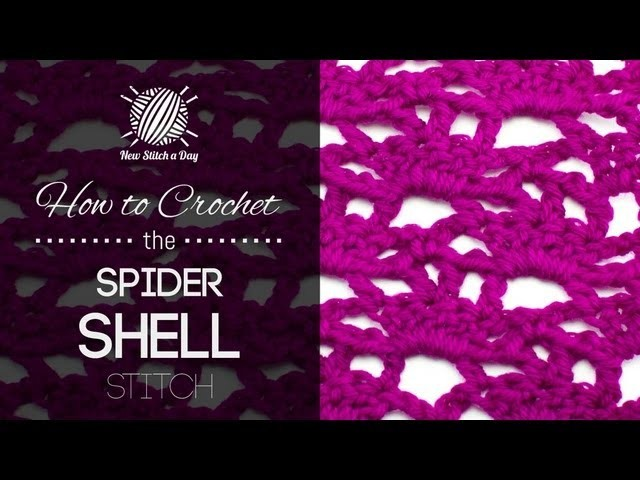 How to Crochet the Spider Shell Stitch