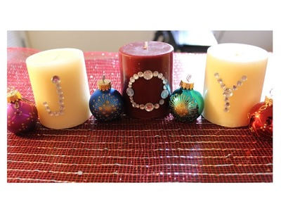 How to Decorate Holiday Candles | Simple DIY