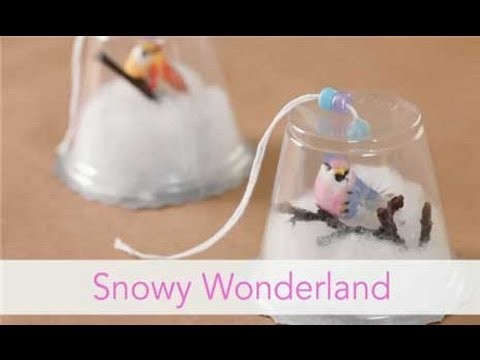 How to Make a Snowy Wonderland Ornament - Christmas Craft