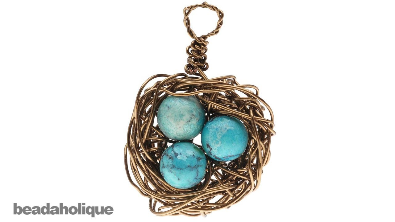 How to Make a Wire Bird's Nest Pendant