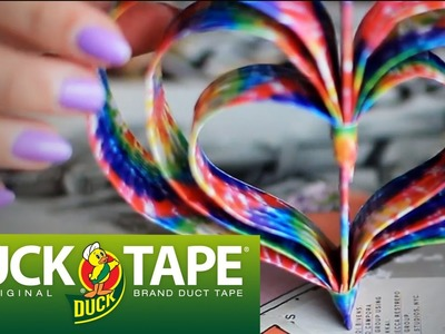 How to Make Duck Tape Hanging Heart Decor with LaurDIY | Valentine's Day Crafts