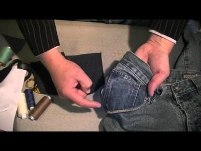 How-to-make-Jeans - Creating the front pockets part 1