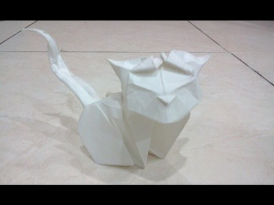 How to make Origami Cat (Hoang Tien Quyet)