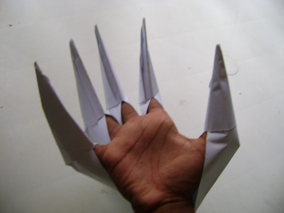 HOW TO MAKE PAPER DRAGON NAILS .best origami video