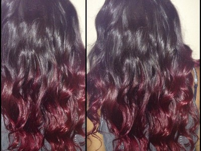 How To [ Red Ombre ]  DIY on your hair. Private Stock Hair Extensions