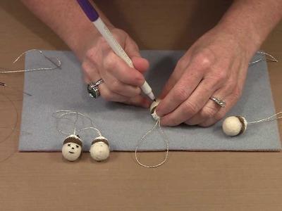 Making Wool Felt Acorn Holiday Ornaments by Joggles.com