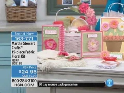 Martha Stewart Crafts 15-piece Fabric Floral Kit
