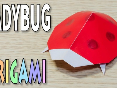 Origami Ladybug : How to make a paper insect ladybird Tutorial