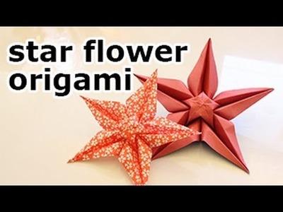 Origami Star Flower Tutorial
