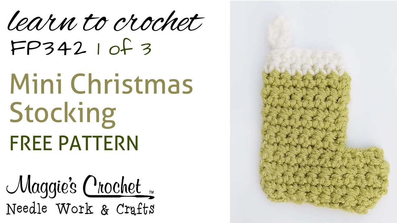 Part 1 of 3 Christmas Stocking - Right Handed - Free Crochet Pattern