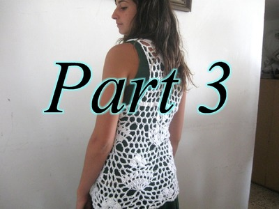 Royal Lace Vest Pt 3 - Left Handed Crochet Tutorial