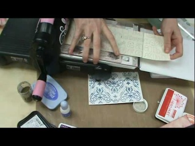 "Scrapbooking Made Simple uses the NEW ""Ink Its""  Letter Press Plates by Sizzix"