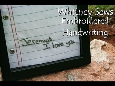 Sewn Notebook Paper and Embroidered Handwriting - Whitney Sews