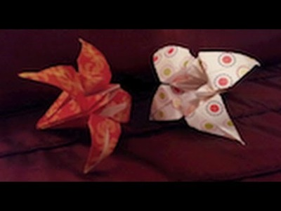 Simple origami Lily Flower tutorial