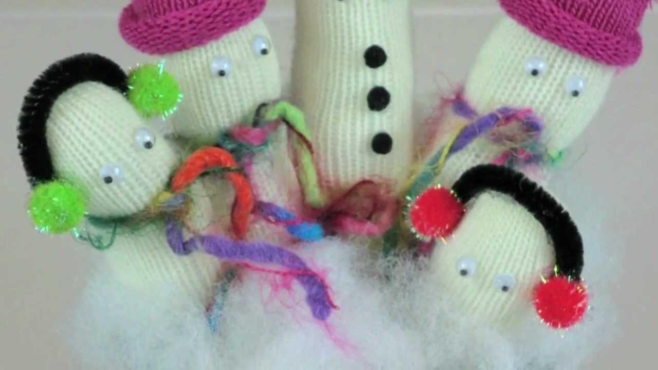 Snowmen Glove Christmas Decoration