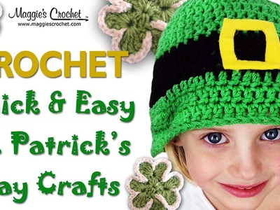 St Patrick's Day Hat Free Crochet Pattern - Right Handed